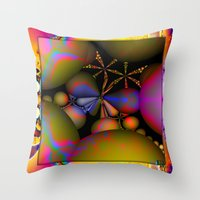 starfish Throw Pillows featuring Starfish by Robin Curtiss
