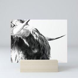 Black and White Horns Mini Art Print