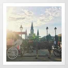Sunset Over Jackson Square Art Print