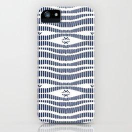 Indigo Pattern - Indigo / Navy & White iPhone Case