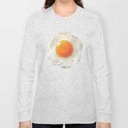 Fried Egg Polygon Art Long Sleeve T-shirt