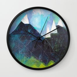Matterhorn Cirque Mountain Peaks Wall Clock