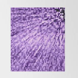Purple Pixels Wind Throw Blanket