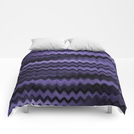 Purple Waves Abstract Comforters