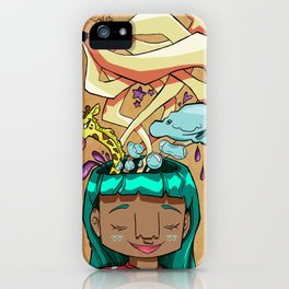Overflowing thoughts  iPhone Case