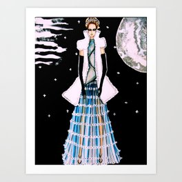 Ethereal Beauty Fashion Illustration By James Thomas Ryan Art Print