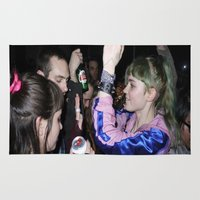 grimes Area & Throw Rugs featuring Grimes Dancing in Brooklyn  by The Electric Blve / YenHsiang Liang