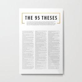 95 Theses Metal Print
