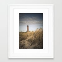 lighthouse Framed Art Prints featuring Lighthouse  by Maria Heyens