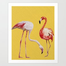Bold Flamingo Caribbean and Tropical inspired design Art Print