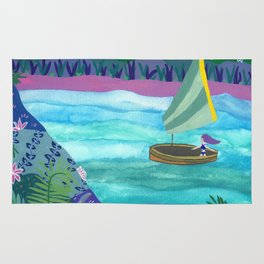 Sailing by Tropical Islands Rug