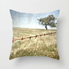 Tree Behind Fence Throw Pillow