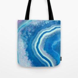 Teal and violet agate Tote Bag