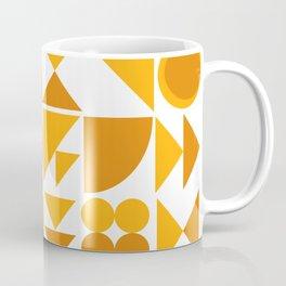 Mid Century Shape Art in Mustard Yellow Coffee Mug