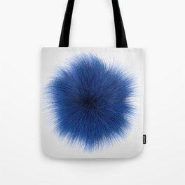 Blue Fuzz Tote Bag
