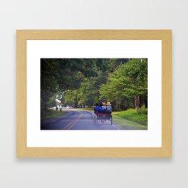 Slow Traffic Framed Art Print