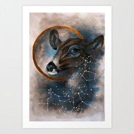 Celtic, Deer, Constellation Art Print