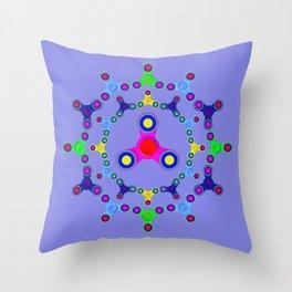 Fidget Spinner design version 2 Throw Pillow