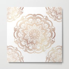 Mandala Gold Shine I Metal Print