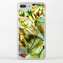 Crystal Golden Gem Clear iPhone Case