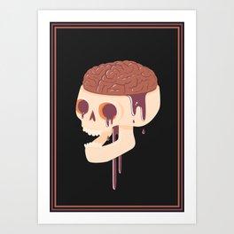 Yummy Skull Art Print