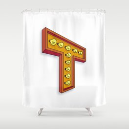 The T Letter Shower Curtain