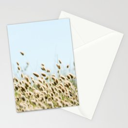 Summer beach land Stationery Cards