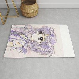 Sailor Saturn Hotaru with Soul Crystal Rug
