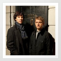 johnlock Art Prints featuring Johnlock by Amélie Store