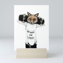 Fox'n'roll Mini Art Print