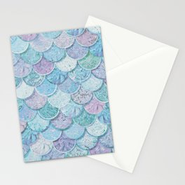 Pastel Marble Mermaid Scale Stationery Cards