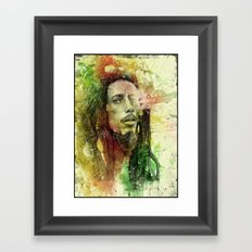 Reggae Rebel (Marley) Framed Art Print