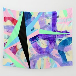 Pastel Prism Wall Tapestry