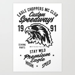 eagle choppers mc club Art Print
