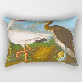 White Ibis Bird Rectangular Pillow