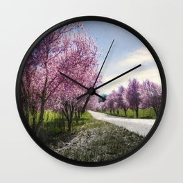 The Coming of Spring Wall Clock