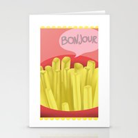 french fries Stationery Cards featuring French Fries by Elisehill3
