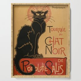 Le Chat Noir The Black Cat Poster by Théophile Steinlen Serving Tray
