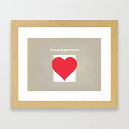 My Heart bleeds for you Framed Art Print