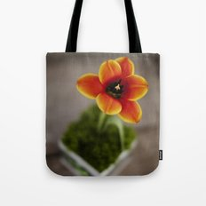 FLOWER ON FIRE Tote Bag