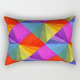 Poster Glaze Textured Retro Art Rectangular Pillow