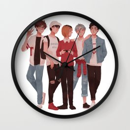 Pretty Setter Squad Wall Clock