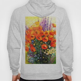 Bouquet of red poppies Hoody