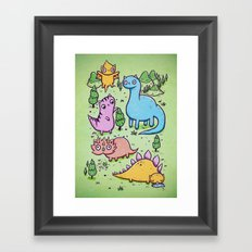 Prehistoric cats Framed Art Print