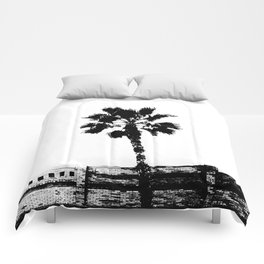 Black & White Palm Comforters