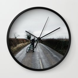 moody winter lanes Wall Clock