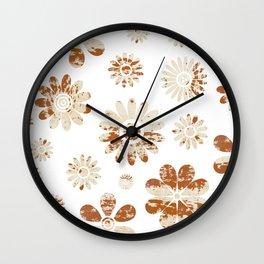 Shabby Flowers Wall Clock