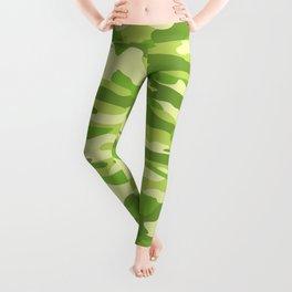 Green Kelp Camo Pattern Leggings