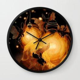Bunny Moths Wall Clock