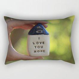 I Love You More House Rectangular Pillow